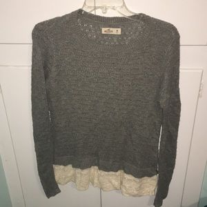Hollister lace trim sweater